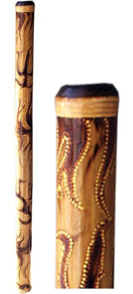 Terre Didgeridoo beflammt-bemalt